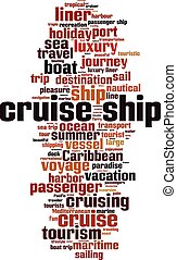 Cruise ship word cloud - vertical
