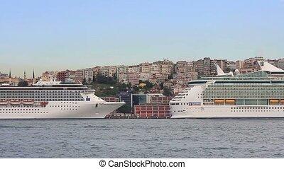 Cruise ships docked in Karakoy Port