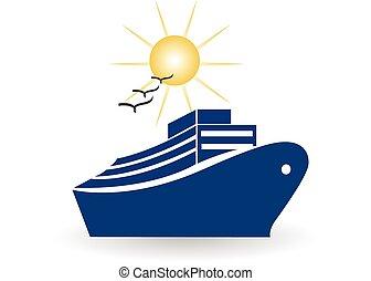 Cruise travel logo - Cruise travel icon vector illustration...