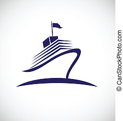 Cruise travel logo - Cruise travel identity card vector icon...