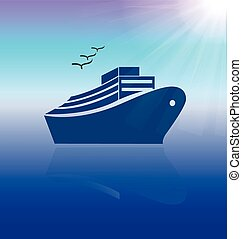 Cruise travel logo vector backgroun