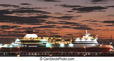 Cruiser at night