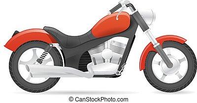Cruiser motorbike vector illustration isolated on white