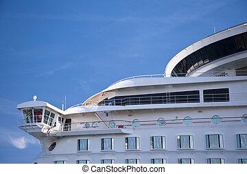 Cruiser - Detail of a cruiser in port of Kiel, Germany