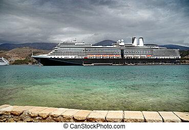 Cruiser - Cruise ship in port - Kefalonia, Greece