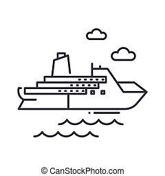 Cruises icon, linear isolated illustration, thin line vector, web design sign, outline concept symbol with editable stroke on white background.