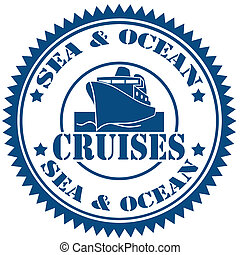 Cruises-stamp - Rubber stamp with text Cruises,vector...