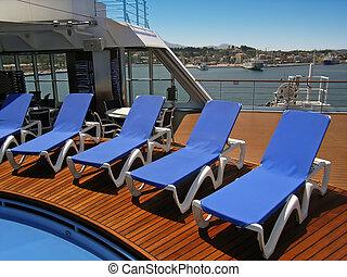 Cruiseship Deck - Near the pool on a mediterranean...