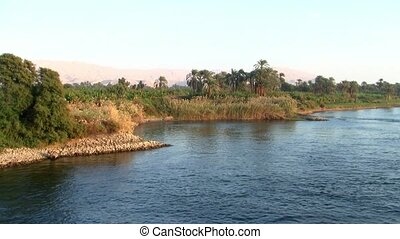Cruising by the Bank of the River Nile in Egypt