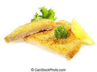 Crumbed chicken or pork fillet - Delicious golden deep fried...