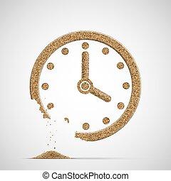 crumble., 時計ダイアル, sand., 腕時計, 作られた