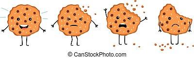 Crumble cookie snack