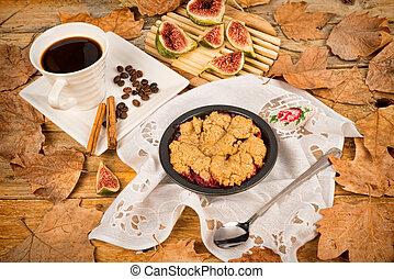 Crumble pie