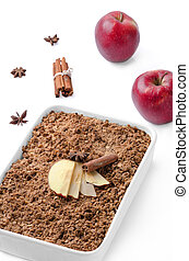 Crumble with apples