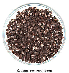 Crumbled Cream Cookies - Glass bowl full of chopped...
