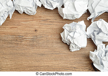 Crumbled paper - A lot of crumbled up pieces of paper