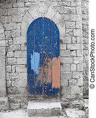 Crumbling Blue Frontdoor.