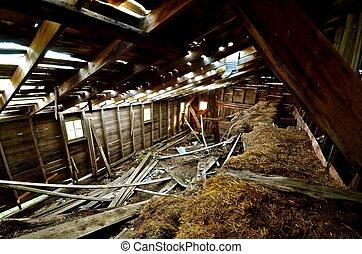 Crumbling Hayloft of a Barn