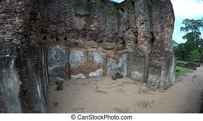 Crumbling Ruins of an Ancient Ruin in Polonnaruwa, Sri Lanka