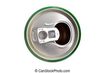 Crumpled Aluminum can isolated