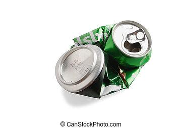 Crumpled Aluminum can