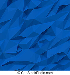 Crumpled blue background, 3d computer graphic
