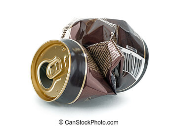 Crumpled beer can