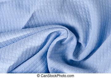 crumpled blue fabric