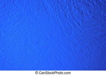 crumpled blue plastic background