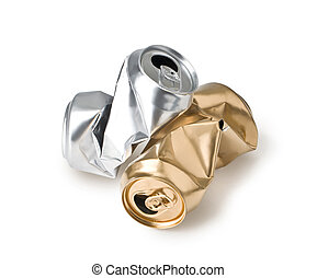 crumpled empty cans