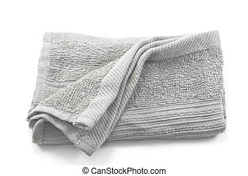 Crumpled grey cloth(rag) isolated on white background