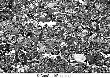 Crumpled metal rendering