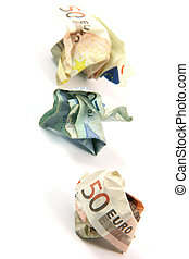 crumpled money vertical