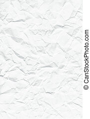 Crumpled paper - Background of crumpled white paper