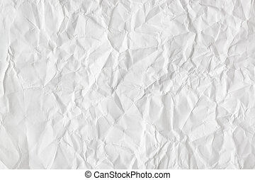Crumpled paper background - Crumpled white paper texture -...