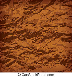 Crumpled paper background vignette, vector illustraion
