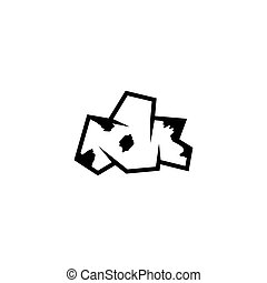 Crumpled Paper Ball, Garbage Sheet Flat Vector Icon