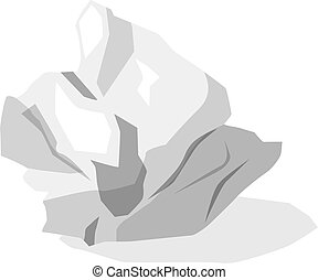 Crumpled paper ball isolated on white. Recyclying or Working Idea concept