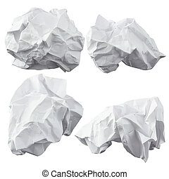 Crumpled paper. Four lump. The design elements