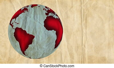 Crumpled Paper Globe - Animation of Planet Earth, made of...