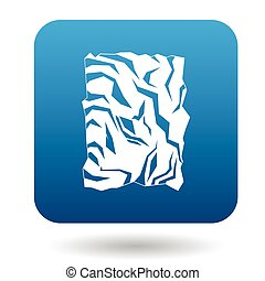 Crumpled paper icon in simple style - icon in simple style...
