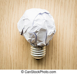 Crumpled paper Light bulb