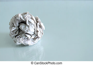 crumpled paper on isolated