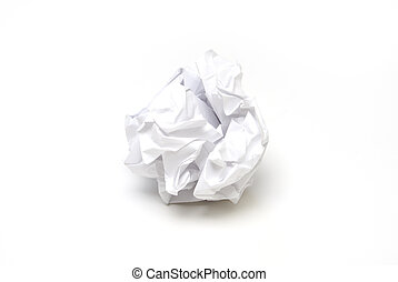 Crumpled Paper - A piece of crumpled paper in the form of a...