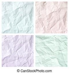 crumpled paper texture set