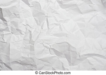 Crumpled paper texture - Abstract texture from sheet of...