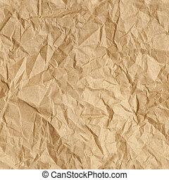 Crumpled Paper Wallpaper - Repeating crumpled brown parcel...
