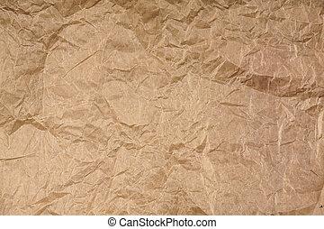 crumpled parchment