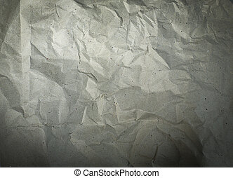 crumpled piece of paper for the label