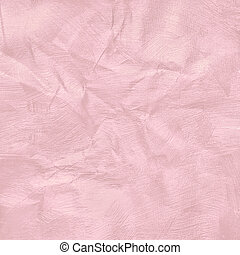 Crumpled pink pastel colour paper texture for background.